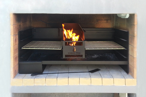 1200mm Ashpanbraai with coalmaker and 3 mildsteel grids