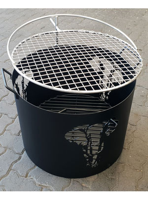 Elephant firepit with braaigrid