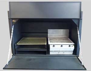1200 mm Combination braai without divider (single doors) and 3Burner Chad-o-Chef