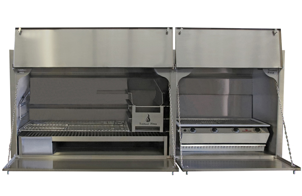 2050 mm Combination braai - full stainless steel2050 mm Combination braai - full stainless steel - with 4Burner Chad-o-Chef