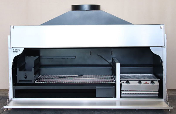 2050 mm Custom Combination braai with half divider (single doors) and 3Burner Chad-o-Chef