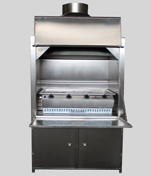 900mm Stainless Steel Freestanding braai with 4Burner Sizzler