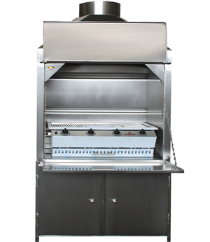 900mm stainless steel Freestanding Braai with 4B Sizzler