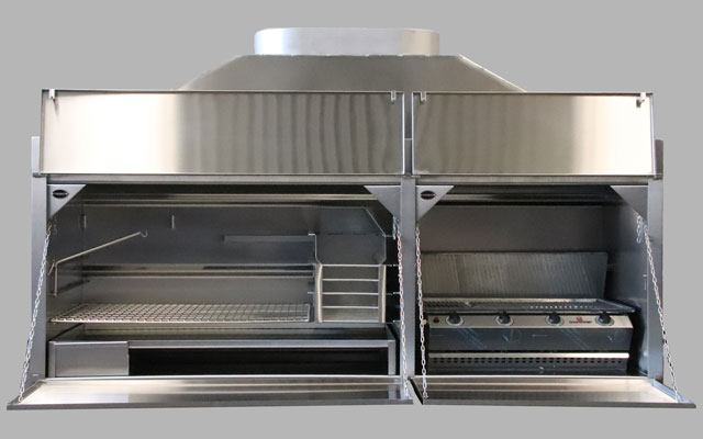 2050 mm Combination Braai with 4Burner Sizzler