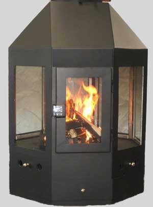 1000 mm Octagon Fireplace