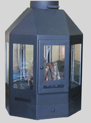 800 mm Octogon Fireplace