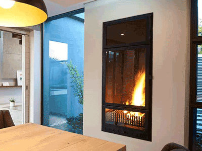 Custom Vertical Fireplace